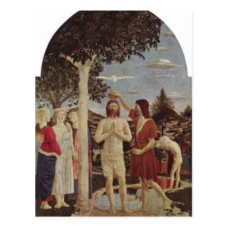 Piero della Francesca Taufe Christi um C 1440-1450 Cartes Postales