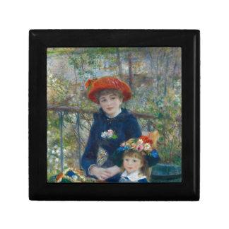 Pierre-Auguste Renoir - deux soeurs Petite Boîte À Bijoux Carrée