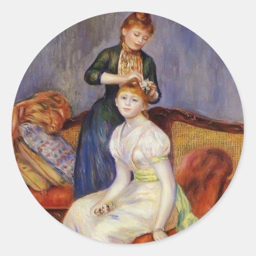 Pierre-Auguste Renoir- la coiffure Adhésifs