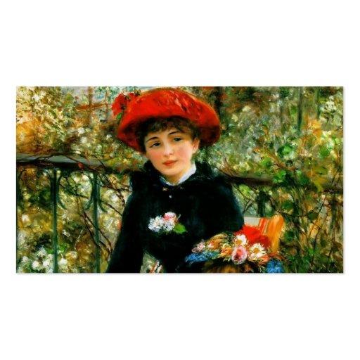 Pierre-Auguste Renoir- sur la terrasse Modèle De Carte De Visite