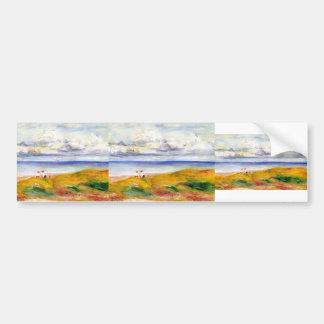 Pierre-Auguste Renoir- sur une falaise Autocollant Pour Voiture
