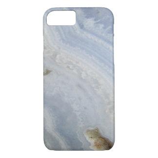 Pierre bleue de nature de cool de remous d'agate coque iPhone 7