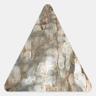 Pierre criquée de plage sticker triangulaire