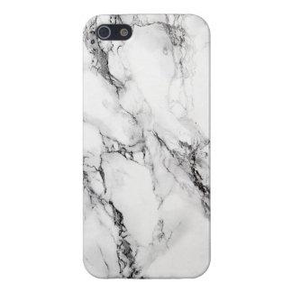 Pierre de marbre blanche élégante coque iPhone 5