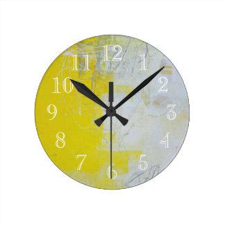 Pierre jaune horloge ronde