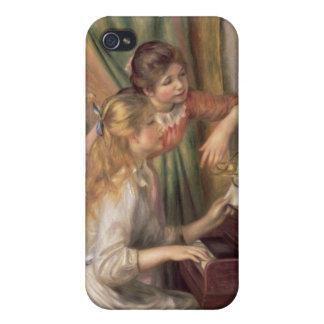 Pierre jeunes filles de Renoir un | au piano iPhone 4 Case