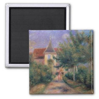 Pierre maison de Renoir   un Renoir chez Essoyes Magnet Carré