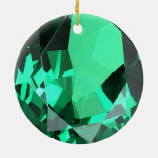 Pierre porte-bonheur verte verte riche de mai ornement rond en céramique