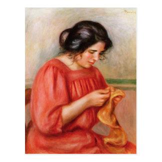 Pierre raccommoder de Renoir   Gabrielle Carte Postale