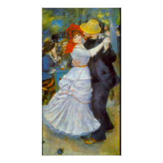 Pierre Renoir - danse chez Bougival Poster
