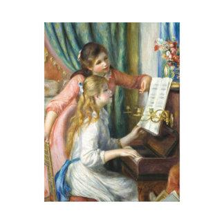 Pierre Renoir - jeunes filles au piano Toiles
