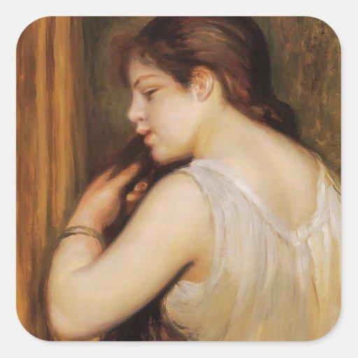 Pierre Renoir- la coiffure Autocollant