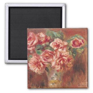 Pierre roses de Renoir un   dans un vase Magnet Carré