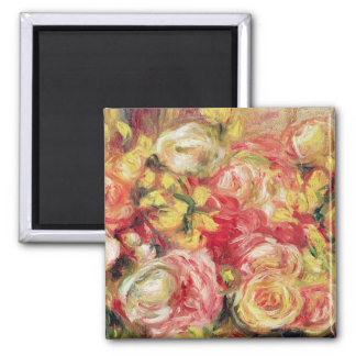 Pierre roses de Renoir un | Magnet Carré