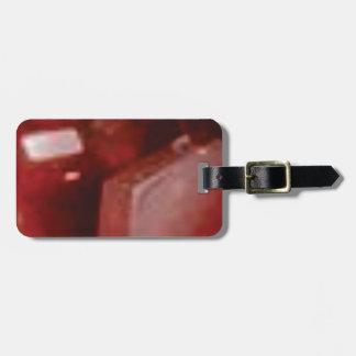 pierre rouge de roche étiquette à bagage
