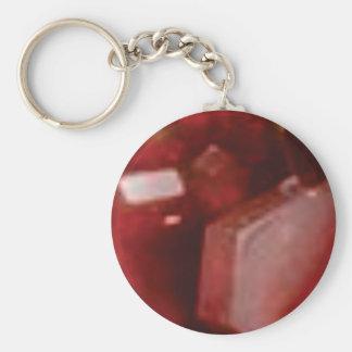 pierre rouge de roche porte-clé rond