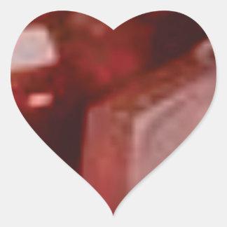 pierre rouge de roche sticker cœur
