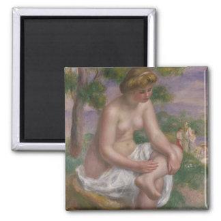 Pierre un baigneur assis par | de Renoir dans un Magnet Carré