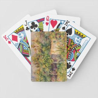 Pierre un cabine de Renoir | dans une clairière Jeux De Cartes