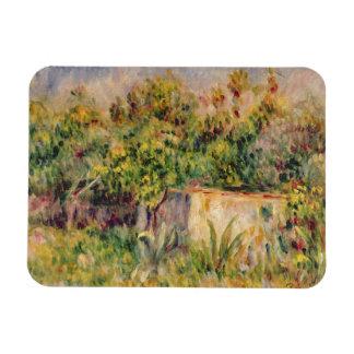 Pierre un cabine de Renoir   dans une clairière Magnet Rectangulaire Avec Photo