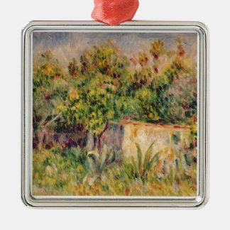 Pierre un cabine de Renoir | dans une clairière Ornement Carré Argenté