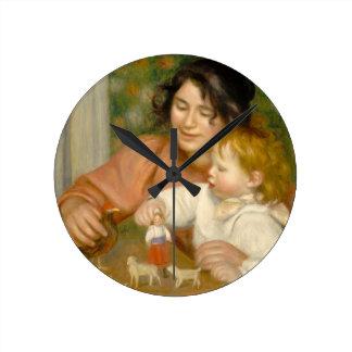 Pierre un enfant de Renoir | avec des jouets Horloge Ronde