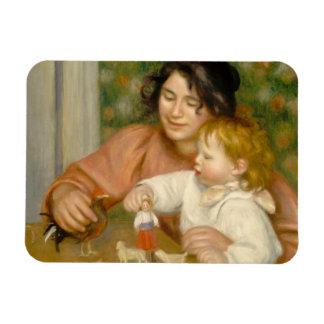Pierre un enfant de Renoir   avec des jouets Magnets Rectangulaires