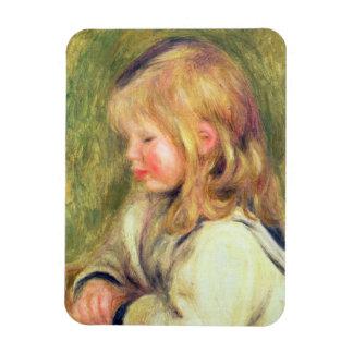 Pierre un enfant de Renoir   dans une lecture Magnets Rectangulaire