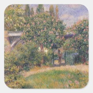 Pierre un pont de chemin de fer de Renoir | chez Sticker Carré