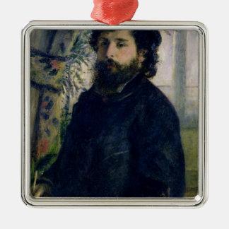 Pierre un portrait de Renoir   de Claude Monet Ornement Carré Argenté