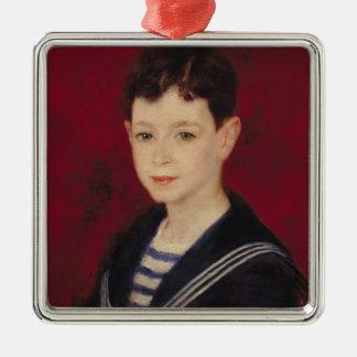 Pierre un portrait de Renoir | de Fernand Halphen Ornement Carré Argenté