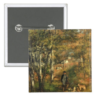 Pierre un Renoir | Jules Le Coeur dans la forêt Pin's