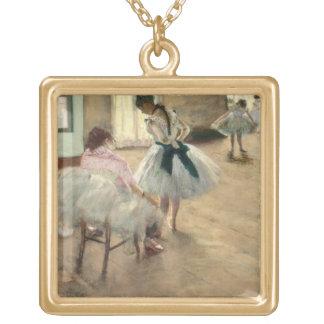 Pierre un Renoir   la leçon de danse Collier Plaqué Or