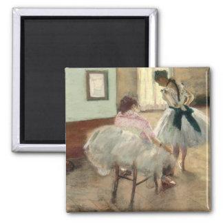Pierre un Renoir   la leçon de danse Magnet Carré
