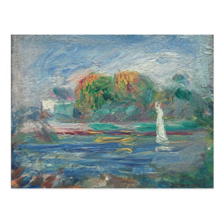 Pierre un Renoir | la rivière bleue Cartes Postales