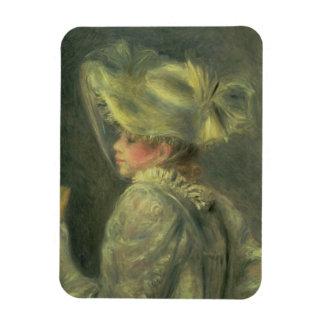 Pierre un Renoir   le casquette blanc Magnets