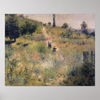 Pierre un Renoir | le chemin à travers la longue Poster