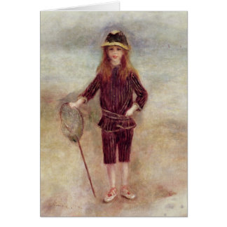 Pierre un Renoir   le petit Fisherwoman Carte De Vœux