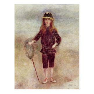 Pierre un Renoir   le petit Fisherwoman Carte Postale