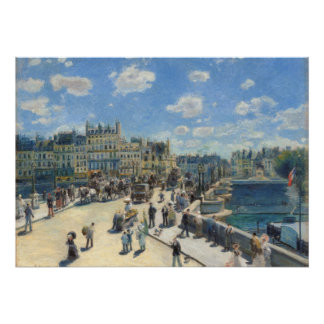 Pierre un Renoir | Pont Neuf, Paris Poster