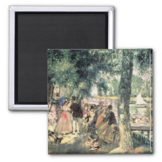 Pierre un Renoir   se baignant sur la Seine Magnet Carré