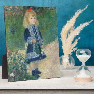 Pierre un Renoir   une fille avec une boîte Photo Sur Plaque