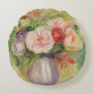 Pierre un vase à Renoir | de fleurs Coussins Ronds