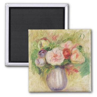 Pierre un vase à Renoir   de fleurs Magnet Carré