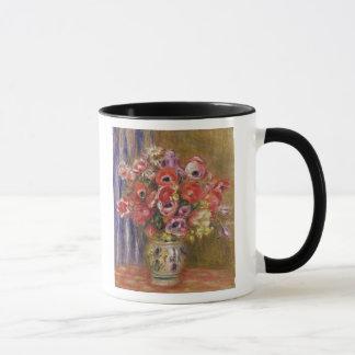 Pierre un vase à Renoir   de tulipes et d'anémones Tasses