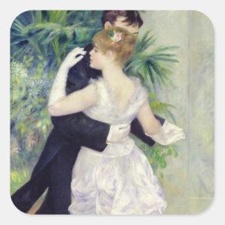 Pierre une danse de Renoir | dans la ville Sticker Carré