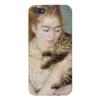 Pierre une femme de Renoir | avec un chat iPhone 5 Case