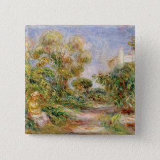Pierre une femme de Renoir | dans un paysage Badge