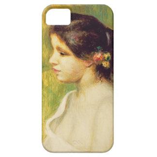 Pierre une jeune femme de Renoir | avec des fleurs Coque iPhone 5 Case-Mate