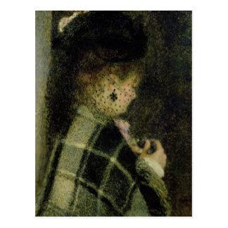 Pierre une jeune femme de Renoir   avec un petit Carte Postale